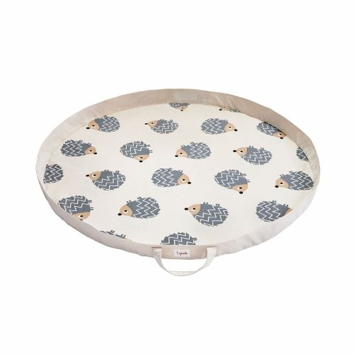 3 Sprouts Play Mat Bag - Hedgehog Grey