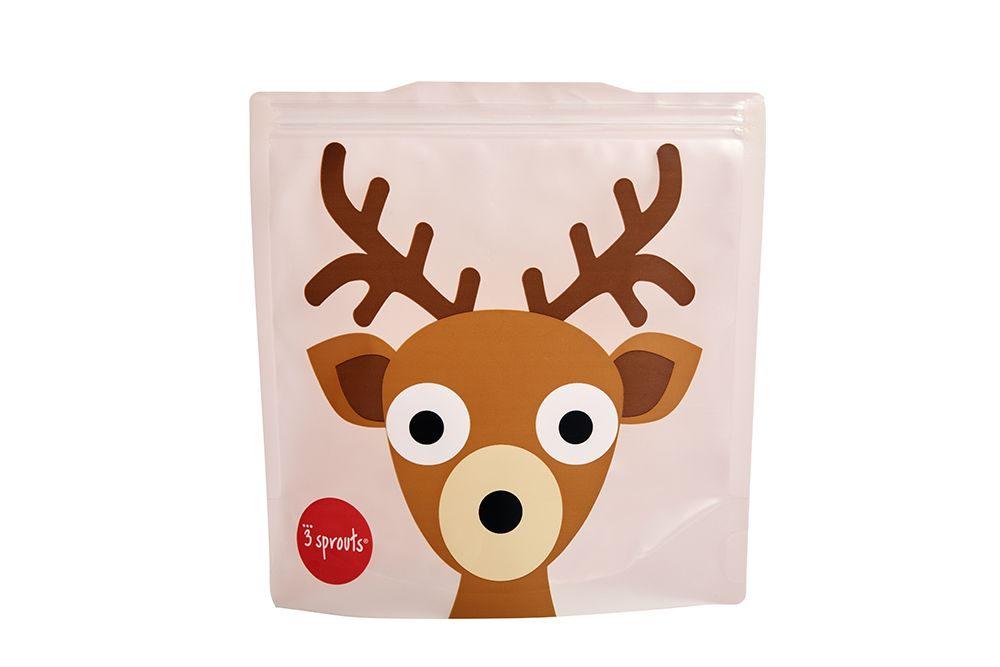 3 Sprouts Reusable Sandwich Bag - Deer