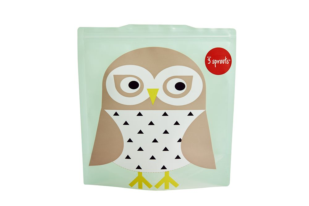 3 Sprouts Reusable Sandwich Bag - Owl