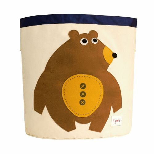 3 Sprouts Storage Bin - Bear Toffee