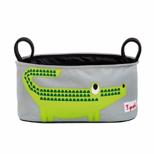 3 Sprouts Stroller Organiser - Crocodile Green