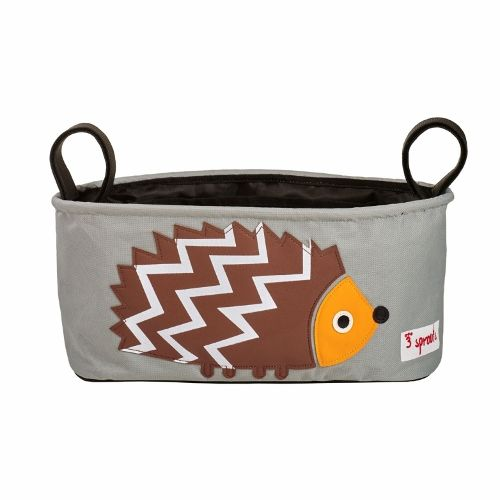 3 Sprouts Stroller Organiser - Hedgehog Brown