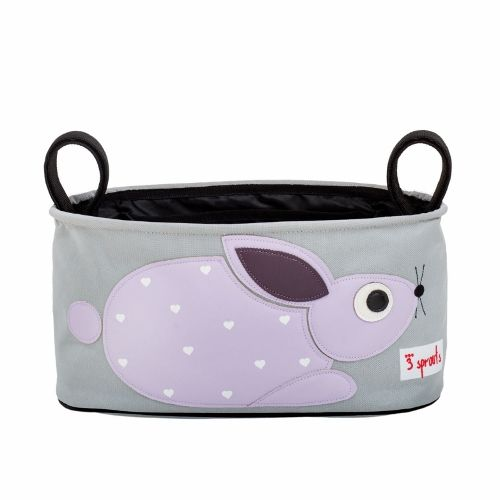 3 Sprouts Stroller Organiser - Rabbit Purple