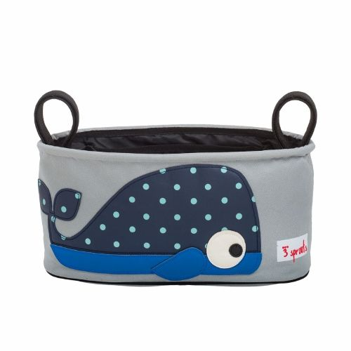 3 Sprouts Stroller Organiser - Whale Blue