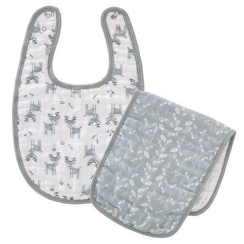 Fresk Organic Bib & Burp set - Deer