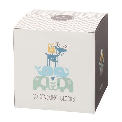 Fresk Stacking Blocks - Numbers and Letters Blue